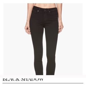 PAIGE Hoxton high rise skinny black jeans